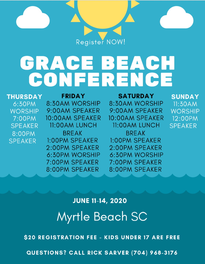Grace Beach Conference Schedule